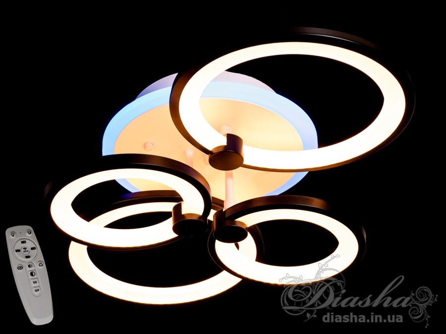 Люстри світлодіодні Diasha 8022/4BK LED 3color dimmer