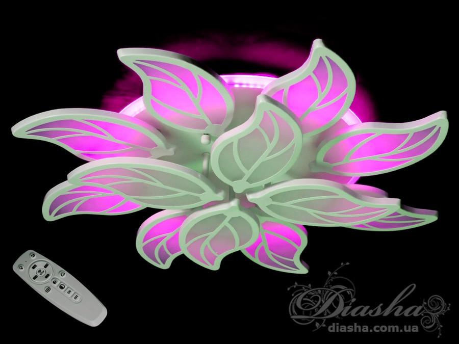 Люстри світлодіодні Diasha 8028/8+4WH LED 3color dimmer