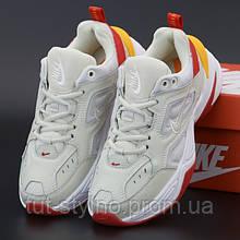 Женские кроссовки в стиле Nike M2K Tekno, белый, красный, желтый, Вьетнам