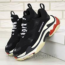 Женские кроссовки в стиле Balenciaga Triple S, черный, белый, красный, Италия