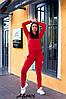 """Спортивний весняний жіночий костюм з лампасами, кофта на змійці з капюшоном, великі розміри, серія """" він і вона"""", фото 7"""