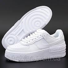Мужские кроссовки в стиле Nike Air Force 1 Shadow, кожа, белый, Вьетнам