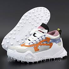 Женские кроссовки в стиле Off-White Odsy-1000, белый, серый, оранжевый, розовый, Вьетнам