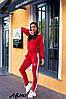 """Спортивний весняний жіночий костюм з лампасами, кофта на змійці з капюшоном, великі розміри, серія """" він і вона"""", фото 8"""