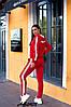 """Спортивний весняний жіночий костюм з лампасами, кофта на змійці з капюшоном, великі розміри, серія """" він і вона"""", фото 9"""