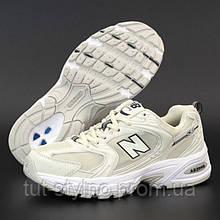 Женские кроссовки в стиле New Balance 530, белый, бежевый, черный, Вьетнам