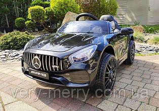 Детский электромобиль Mercedes-Benz AMG GT (черный цвет) с пультом дистанционного управления 2,4 G