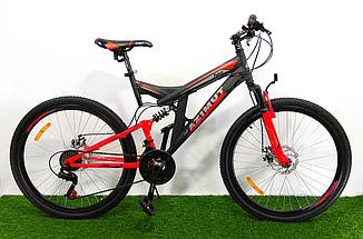 """Велосипед Azimut Power 26"""" D рама 19,5 черно-красный"""