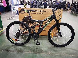 Велосипед AZIMUT Blackmount 26 D черно-зеленый