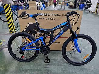 Горный велосипед Azimut Power 26 GD черно-синий
