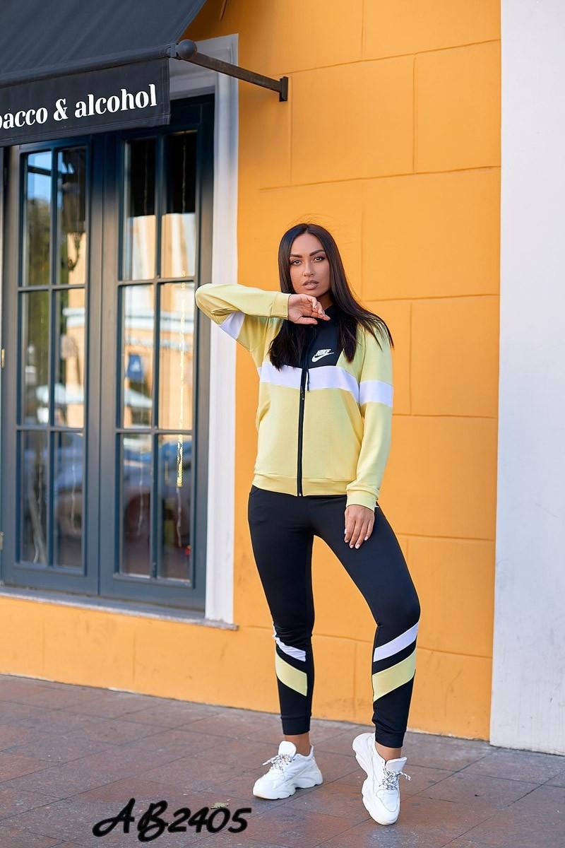 Спортивный весенний женский костюм тройка, кофта на змейке с капюшоном, футболка и штаны, батал большие размер