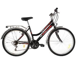 Городской велосипед Mustang Sport 26*162 черно-красный