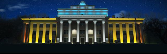 архитектурное фасадное освещение