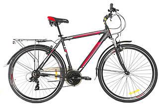 Городской велосипед Crosser Gamma 28 Черно-красный