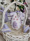Яйцо пасхальное с кружевом, Н- 10-11 см, 95 грн, подвеска на корзину или заготовка для венка., фото 7