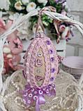 Яйцо пасхальное с кружевом, Н- 10-11 см, 95 грн, подвеска на корзину или заготовка для венка., фото 6