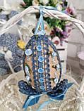 Яйцо пасхальное с кружевом, Н- 10-11 см, 95 грн, подвеска на корзину или заготовка для венка., фото 2