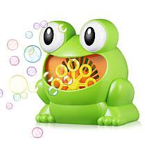 Детская установка для мыльных пузырей генератор-пузырей 011/23634 лягушка, фото 2