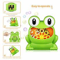 Детская установка для мыльных пузырей генератор-пузырей 011/23634 лягушка, фото 3