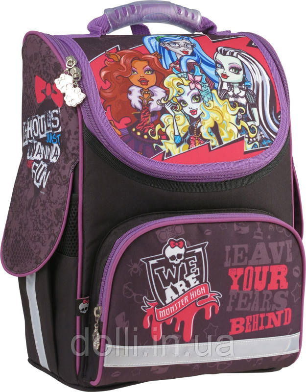 bb7fba71d604 Ранец школьный каркасный ортопедический KITE Monster High MH15-501-1S, фото  1