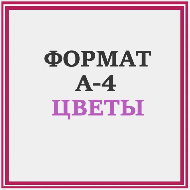 СХЕМЫ ЦВЕТЫ А4