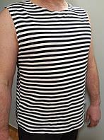 Тельняшка майка - безрукавка трикотажная размер 54,56,58,60.