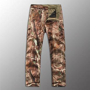"""🔥 Штаны Soft Shell утепленные """"Esdy. 190"""" (Лесной камуфляж) для охоты и рыбалки, тактические, теплые, военные"""