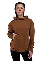 Худи коричневый толстовки мужские и женские парные кофты регланы весенние
