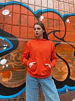 Худи оранжевое толстовки мужские и женские парные кофты регланы весенние