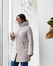 Женская демисезонная удлиненная куртка  М-234, р-ры 46-58, фото 3