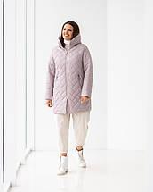 Женская демисезонная удлиненная куртка  М-234, р-ры 46-58, фото 2