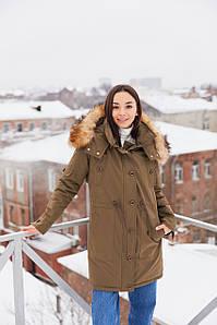Женская стильная зимняя парка П-9