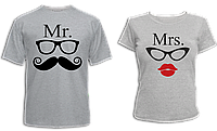 """Парные футболки """"Мистер и Миссис"""", фото 1"""