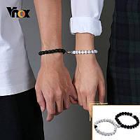 Парные браслеты на магнитах Браслет сердце пара две половинки любовь браслеты для двоих влюбленных