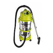 Промышленный пылесос Cleaner VC-1600 (2 двигателя, объём бака 38 л, влагозащищенный, корпус из нержавеющей