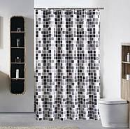 Тканевая шторка для ванной 180х200 см Mosaic, фото 2