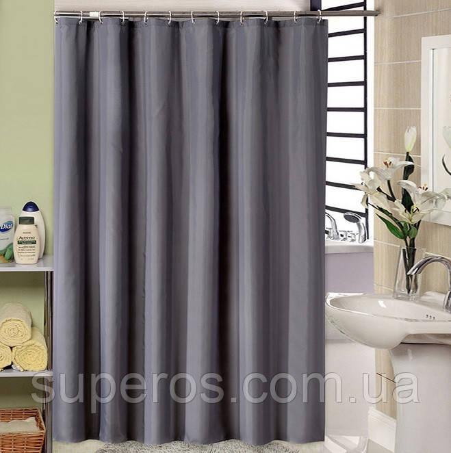 Тканевая шторка для ванной 180х200 см Gray simplicity