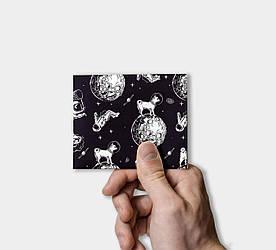 Кошелек Paper Lab Cosmos pug   Tyvek