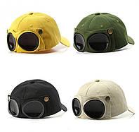 Кепка Бейсболка с маской Солнцезащитные очки Hande Made, Унисекс
