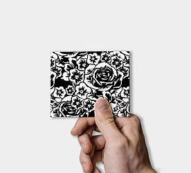 Кошелек Paper Lab Black rose   Tyvek