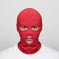 Балаклава маска (Бандитка) Красная 1, Унисекс, фото 1