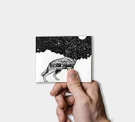 Кошелек Paper Lab Wolf   Tyvek
