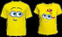 """Парные футболки """"Миньоны"""", фото 1"""