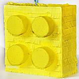 Пиньята лего lego голова бумажная для праздника Піньята лего конструктор голова паперова на день народження, фото 9