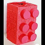 Пиньята лего lego голова бумажная для праздника Піньята лего конструктор голова паперова на день народження, фото 8