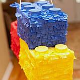 Пиньята лего lego голова бумажная для праздника Піньята лего конструктор голова паперова на день народження, фото 5
