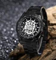 Мужские автоматические механические Часы Winner Timi Skeleton с автоподзаводом, черные