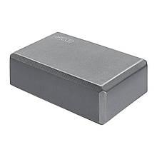 Блок для занять йогою кубик 4FIZJO Grey M41-277652