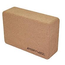 Блок для занять йогою кубик c коркового дерева SportVida M41-277653