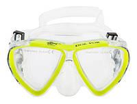 Маска для плавания детская желтая Dolvor 242 SKL83-282404